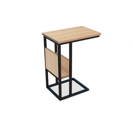 Mesa lateral con revistero